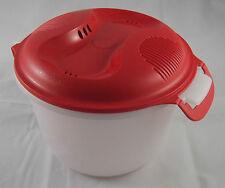 Tupperware I 56 ReisMeister 2,2 l Reiskocher für Mikrowelle Rot / Weiß Neu OVP