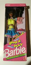 1991 SNAP 'N PLAY BARBIE African-American with Snap on Fashions NIB