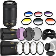 Nikon AF-P DX NIKKOR 70-300mm f/4.5-6.3G ED VR Lens and Accessories