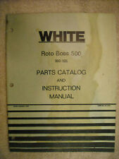 Original White Roto Boss 500 990 - 105 Tiller Parts catalog & Instruction manual