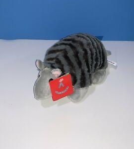 "Aurora Armadillo Plush 8"" Gray Desert Wildlife Stuffed Animal Textured Soft Toy"