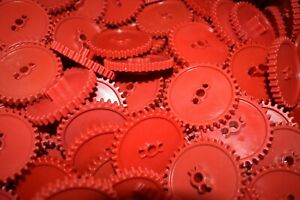 """12 KNEX GEARS Red 2 1/4"""" Gear Replacement Parts / Pieces Lot"""