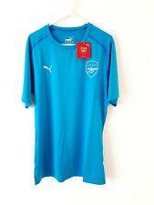 Arsenal BNWT Training Shirt. XL. Puma Blue Adults Short Sleeves Football Top Kit