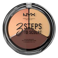NYX 3 Steps To Sculpt Face Sculpting Palette, 3STS03 Medium