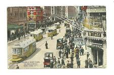 1917 Used postcard hobble skirt cars on broadway new york city nyc