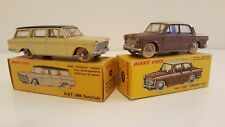 Dinky Toys 531 & 548 - Fiat 1200 Grande Vue & 1800 Familiale en boîte d'origine