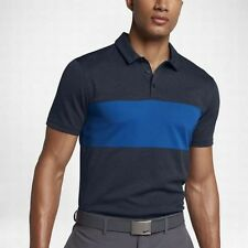 NIKE BREATHE COLOR BLOCK POLO GOLF SHIRT MENS SMALL 833067-473 NAVY ON BLUE