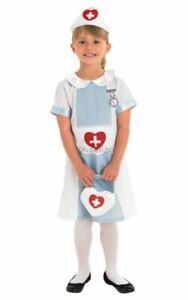 Kids Nurse Uniform Girls Fancy Dress Costume Childs Outfit Book Day