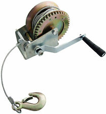 1200LB CAR BOAT HEAVY DUTY HAND WINCH & 10M CABLE & HOOK