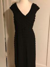 Classic Tadashi Shoji Little Black Crossover Cocktail Dress Size L