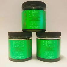 3 Bath & Body Works Almond & Vanilla Body Scrub With Olive Oil 8 oz 226 g New