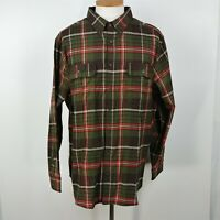 George Green Plaid Long Sleeve Button Down Shirt Mens Size 2XL XXL