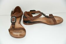 Cole Haan Women's Strappy Sandals Flats Brown Buckle Leather Size 7 B Shoes