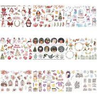 Elk Snowman Christmas Uncut Scrapbooking Stickers DIY Planner Diary Album Decor