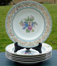 Charles Ahrenfeldt - Beau Service de 6 assiettes creuses porcelaine de Limoges