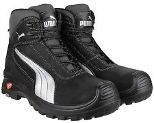 Puma Cascades Mid Black S3 Safety Midsole Toe Cap Mens Boots Shoes UK6-13