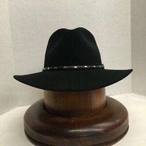 Stetson® 5X DIAMOND JIM BLACK  Felt Hat With Free Hat Brush