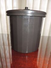 Vintage Tupperware InsuIated Ice Bucket Brown CLASSIC PUSH BUTTON LID SEAL