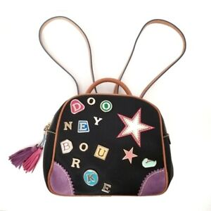 DOONEY & BOURKE Patch Pins Pebble Leather Backpack Bag