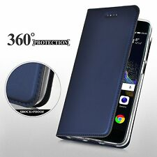 For MOTO G5 G5S G6 Plus Slim Flip Leather Case Card Stand Magnetic Wallet Cover