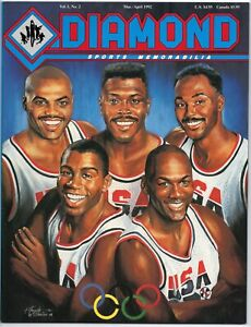 Jordan Dream Team Vintage Diamond Sports Memorabilia Magazine Mar/Apr 1992 New