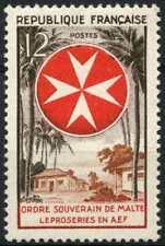 France 1956 SG#1287 Order Of Malta Leprosy Relief MH #E5887