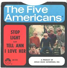 FIVE AMERICANS--PICTURE SLEEVE ONLY--(STOP LIGHT)--PS--PIC--SLV