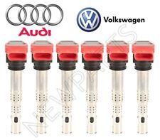 Audi A4 A6 Q7 Q5 S5 VW Touareg Set of 6 Ignition Coils With Spark Plug Connector