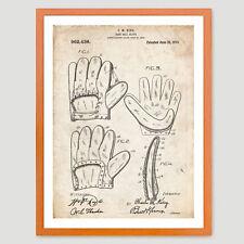 BASEBALL GLOVE MITT PATENT PRINT 18X24 POSTER BABE RUTH VINTAGE REPRO GIFT 1910