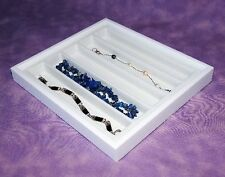 NECKLACE/BRACELET WHITE JEWELRY DISPLAY CASE WHT