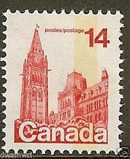 """Canada 1977-82 14¢ Defn, Sc #715 - VF- """"MNH"""", Tagging Variety T4, Error#G2ac $30"""