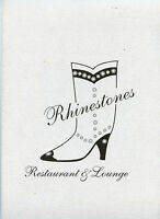 Older Restaurant Menu - Rhinestones - W/ Separate Wine List - Frisco, Colorado