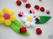 20 Pink,Red Cute Ladybug Resin Poly Clay Flatback Button/bow/lady bug/Craft B47