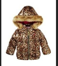 Juicy Couture Baby Girl Leopard Print Winter Puffer Jacket Sz 12 Months NWT!