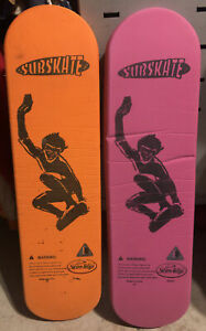 "Rare Vintage 90s Lot Of 2 Swim Ways SubSkate Underwater 30"" Aquatic Skateboard"