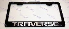 Chevrolet Chevy TRAVERSE Laser Style Stainless Steel Black License Plate Frame