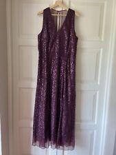 LK BENNETT Full Length Sequin Dress Size 18 UK WORN ONCE