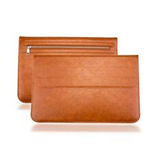 Apple Macbook Pro 15 Case Leather Sleeve Zipper Built in card slot Bag Slim New