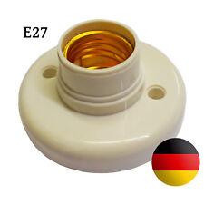 Wandfassung E27 Sockel Lampenfassung LED Kunststoff Deckenfassung Fassung