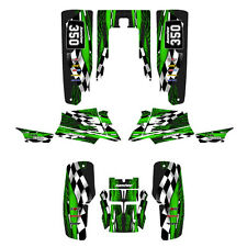 Yamaha Banshee 350 graphics full coverage custom sticker kit  #3500 Green