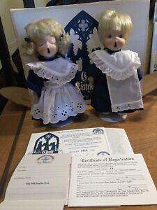 LITTLE CHOIR SINGERS DOLLS BY SHIRLEY FAVELA, PORCELAIN, 0719