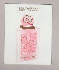 Carte à parfumer  - perfume card  - Andy Warhol recto verso