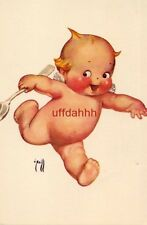"""O'NEILL """"KEWPIE"""" running with spoon Published by The Ashers"""
