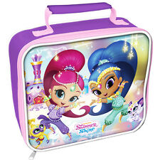 SHIMMER AND SHINE INSULATED KIDS SCHOOL RECTANGLE LUNCH BAG BOX  NEW XMAS GIFT