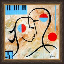 "ORIGINAL Painting  Oil canvas Contemporary Art pop art  minimalism modern 18x18"""