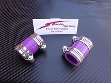 (Purple) Yamaha Banshee Quad exhaust pipe clamps all years fmf,dg, factory ATV