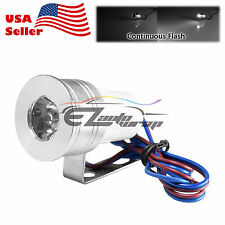 White 1W 12V 100LM LED Spotlight DRL Flash Light Bright Motorcycle Bicycle Bike