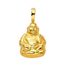 14K Real Solid Yellow Gold  Buddha Pendant For Men Women Buddha Pendant