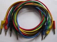 5 pcs Banana Plug to Banana Plug Silicone Cable High Voltage 5 Colors CG New