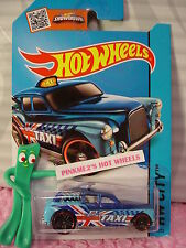Case G/H 2015 i Hot Wheels COCKNEY CAB II #8∞New Blue;Taxi;Union Jack ∞HW City∞